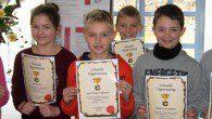 Die 5er-Klassen haben erfolgreich ihr Training an der Computer-Tastatur beendet.