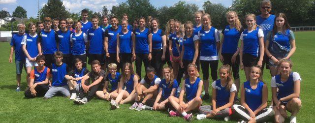 Mit tollen Leistungen hat sich das Leichtathletik-Team zwei Kreistitel gesichert.